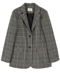 Brim Wool Check Casual Jacket