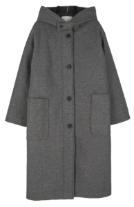 Formal single hooded long coat