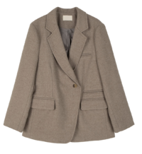 Peanut double-button wool blazer
