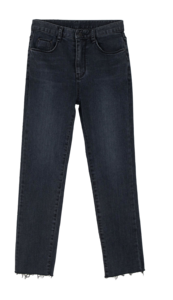 Sheer cut slim jeans