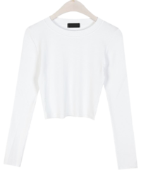 Purcell crop long sleeve T