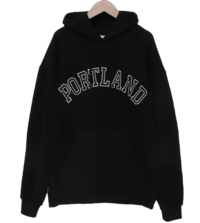 Portland embroidery brushed hooded man-to-man