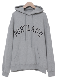 Portland embroidered Fleece-lined hooded Sweatshirt