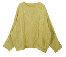 Loose Fit Mens Cable Knit