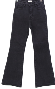 Black Blue High Waist Long Bootcut Jeans