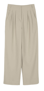 Crocker pintuck wide slacks