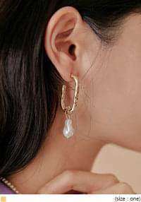 RINE GOLD PEARL DROP EARRING