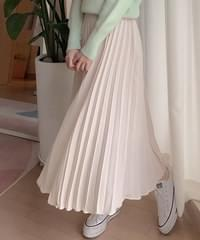 Accordion pleated long skirt