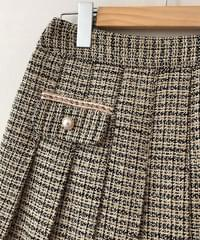 Venue tweed pleated skirt