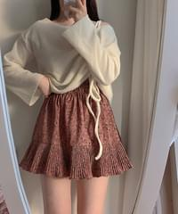 Together floral pleated skirt