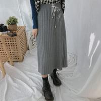 Bonjour pleated long skirt