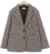Bread Wool Tailored Tweed Jacket