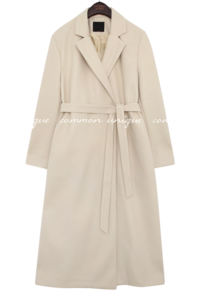 SENU WOOL ONE BUTTON LONG COAT