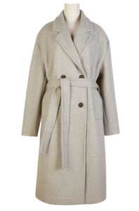 Haze Double Long Coat ♥ Belt Detachable / Wool 40%