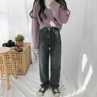 7540 straight wide denim pants