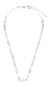 Terry pearl chain necklace