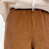 Golden straight banding trousers
