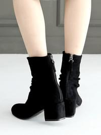 Aliche Shirring Ankle Boots 5cm
