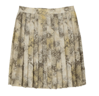 Hippie pattern pleated mini skirt