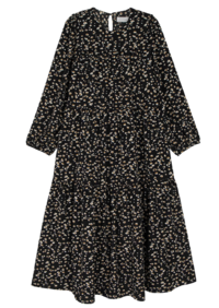 Bowtie pattern midi dress