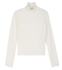 Clean frill turtleneck top 長袖上衣