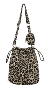 Bring leopard square shoulder bag