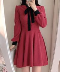 Dry Rose Color Knit Dress