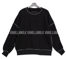Jelly Silky Line Overfit Brushed Sweatshirt