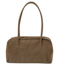 Suede square Boston bag