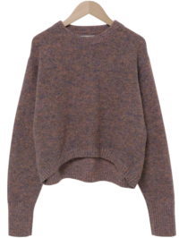 Brownie Wool Crop Knit