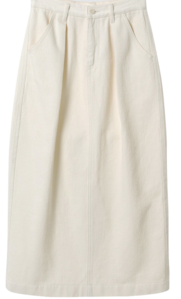 Fave Pin Tuck Raised Long Skirt