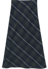 Pound Check Long Skirt