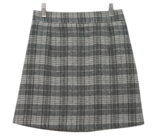 Latte check skirt