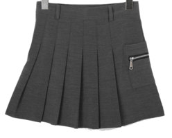 Pleated day mini skirt