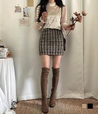 Sarah tweed mini skirt