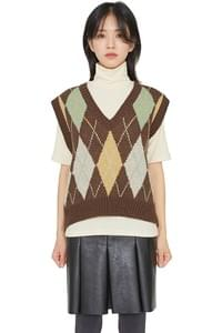 Randy Argyle vest knitted top