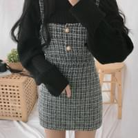 Tweed Bustier Skirt SET