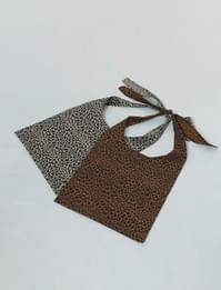 Leopard ribbon eco shoulder bag