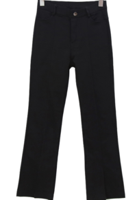 Little brushed front split bootcut pants