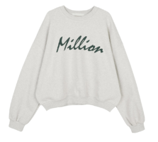 Million printed crew neck sweatshirt 長袖上衣