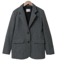 Eden Slim Herringbone Wool Jacket