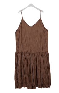 Suede Wrinkle Bustier Long Dress