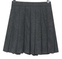 Cinnamon pleated wool mini skirt