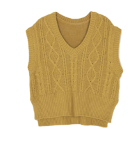 Milk twist knit vest