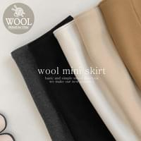Fabric Wool Skirt