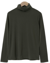 Eoteom color Fleece-lined Turtleneck T-shirt