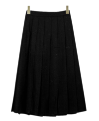 Pleated Sands Wool Skirt