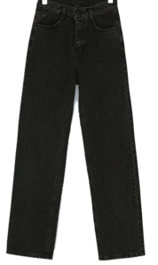 Loa Straight Fit Washing Black Jeans