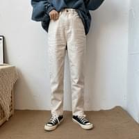 722 Minimal Straight Cotton Pants