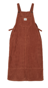 Corduroy overall maxi dress